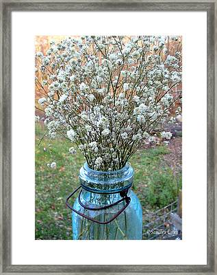 Baby's Breath Bouquet Framed Print
