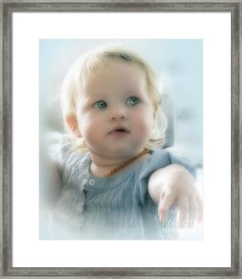 Baby's Got Blue Eyes Framed Print