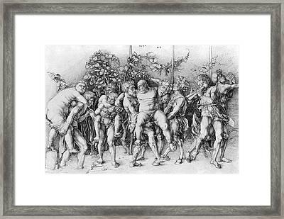 Bacchanal With Silenus - Albrecht Durer Framed Print