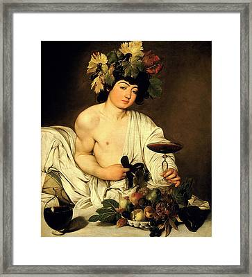 Bacchus 1595 Framed Print by Caravaggio