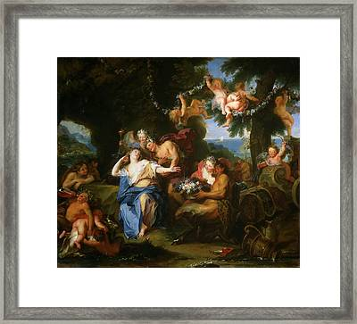 Bacchus And Ariadne On The Isle Of Naxos Framed Print