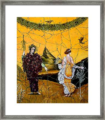 Bacchus And Flora - Study No. 1 Framed Print