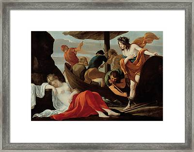 Bacchus Discovering Ariadne On Naxos Framed Print by Louis Le Nain