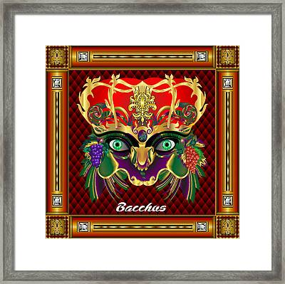 Bacchus V-1 Vector Sample Framed Print by Bill Campitelle