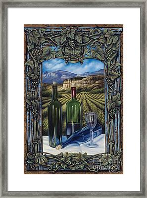 Bacchus Vineyard Framed Print