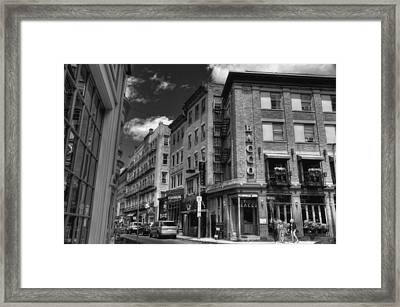 Bacco In Black And White Framed Print by Joann Vitali