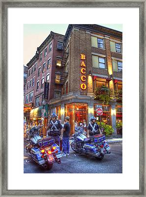 Bacco In The North End Boston Framed Print by Joann Vitali