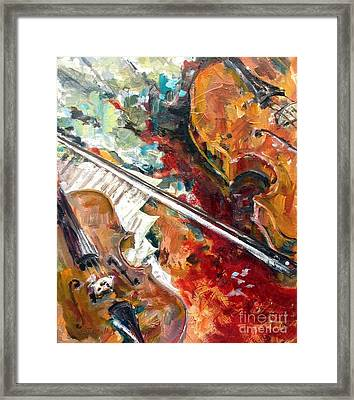 Bach Double Violin Concerto In D Minor Framed Print