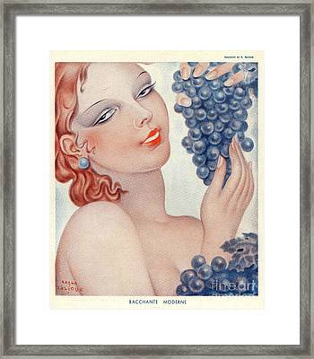 Bachante Moderne  1930s Spain Womens Framed Print by The Advertising Archives