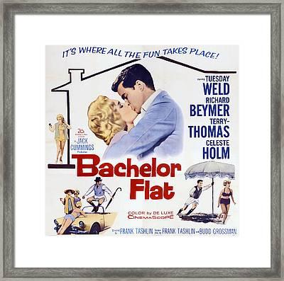 Bachelor Flat, Us Poster Art, From Left Framed Print