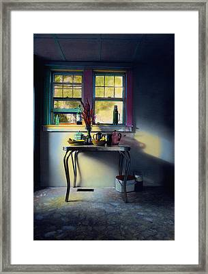 Bachelor's Kitchen - V Framed Print by Cindy McIntyre