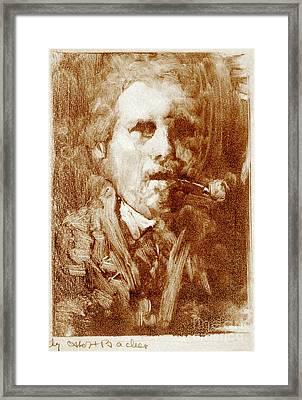 Bacher Self Portrait 1880 Framed Print by Padre Art