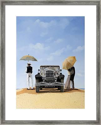 Baci Nel Deserto Framed Print by Guido Borelli