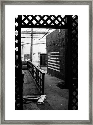 Back Alley America Framed Print by Nathan Hillis