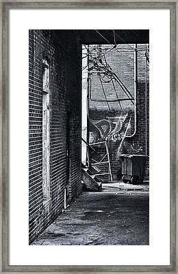 Framed Print featuring the photograph Back Alley by Greg Jackson