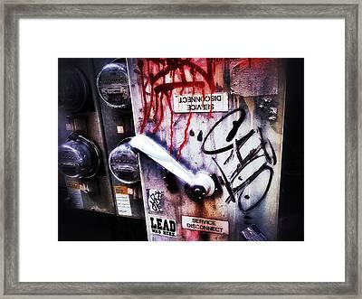 Back Alley Framed Print by Olivier Calas