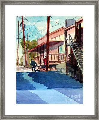 Back Alley Framed Print by Ron Stephens