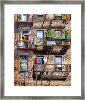 Back Alley View Greenwich Vlg Framed Print by Stuart B Yaeger