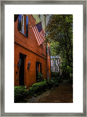 Back Ally Framed Print by Wendy Mogul