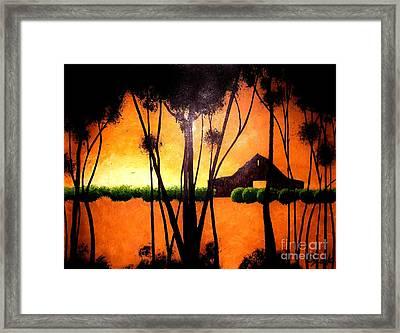 Back At The Barn Framed Print by Kyle  Brock