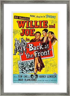 Back At The Front, Us Poster, From Left Framed Print by Everett