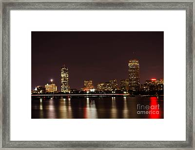Framed Print featuring the photograph Back Bay At Night by Mike Ste Marie