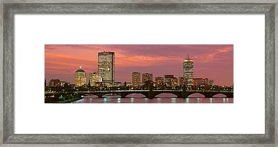 Back Bay, Boston, Massachusetts, Usa Framed Print