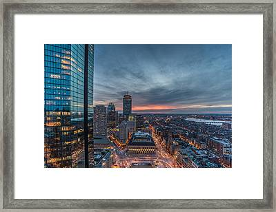 Back Bay Framed Print