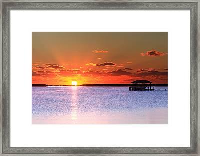 Back Bay Sunrise Framed Print