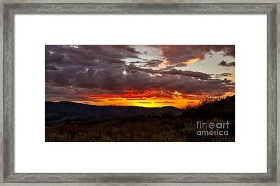 Back Country Sunset Framed Print by Robert Bales