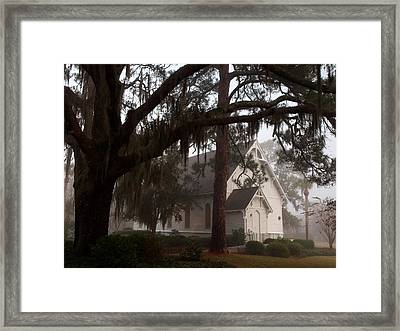 Framed Print featuring the photograph Back Door Believer by Laura Ragland