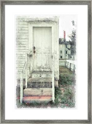 Back Door Framed Print by Edward Fielding