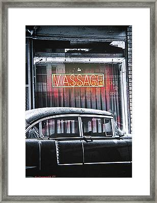 Back Door Man Framed Print by Larry Butterworth