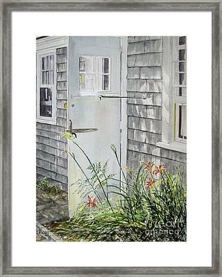 Back Door Nantucket Framed Print