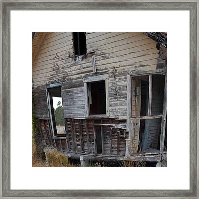 Back Door Needs Work Framed Print