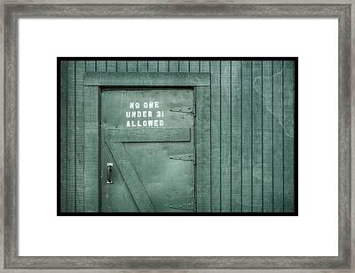 Back Door Okelly's Irish Pub Framed Print by Carter Jones