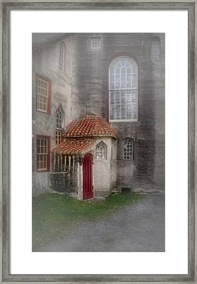 Back Door To The Castle Framed Print by Susan Candelario