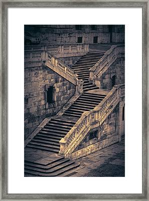 Back Entrance Redux Framed Print by Joan Carroll