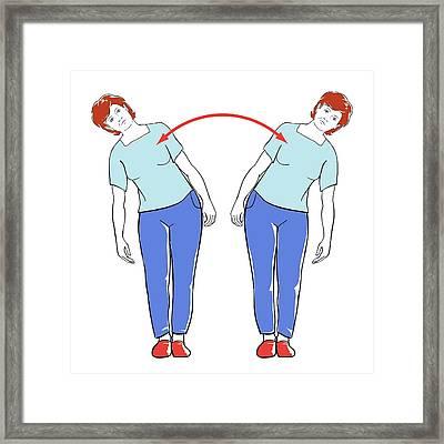 Back Exercises Framed Print by Jeanette Engqvist