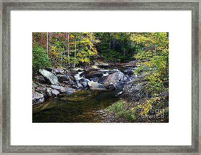 Back Fork Of Elk River Waterfall Framed Print by Thomas R Fletcher