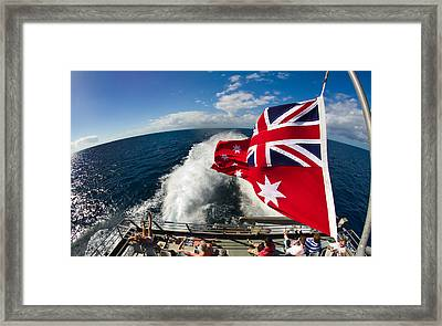 Back From The Great Barrier Reef With A Fisheye Framed Print