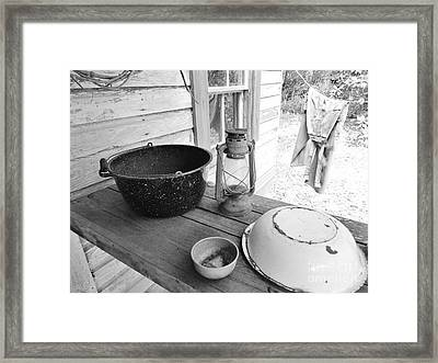 Back In Time B - W Framed Print