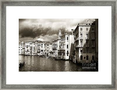 Back In Time On The Grand Canal Framed Print