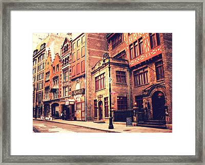 Back In Time - Stone Street Historic District - New York City Framed Print by Vivienne Gucwa