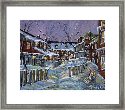 Back Lanes Buddies By Prankearts Framed Print