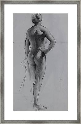 Back Lighting On Nude Framed Print