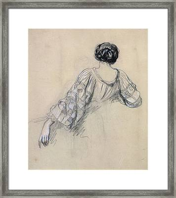 Back Of A Young Woman Framed Print by Antoine Auguste Ernest Herbert