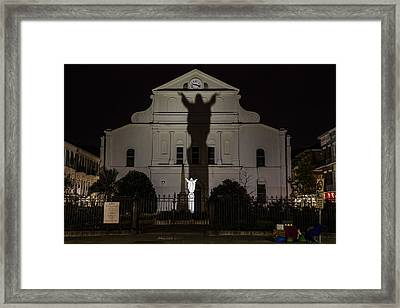 Back Of St Louis Cathedral In New Orleans Framed Print