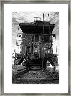 Back Of The Line - Bw Framed Print by Steve Hurt