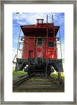 Back Of The Line Framed Print by Steve Hurt